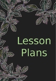 Lesson Plans Binder Cover Page