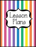 Lesson Plans Book Cover by Johnson Creations