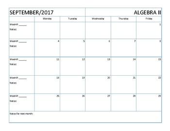 lesson plans calendar blank lesson plan calendar for