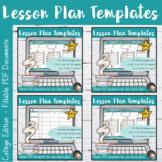 Lesson Plans Editable Template Bundle - Collège Edition