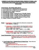 Lesson Plans & Exam: Scientific Notation, Mult/Div Pos/Neg