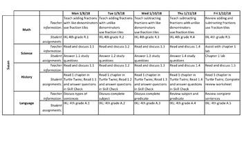 Lesson Plans - Excel