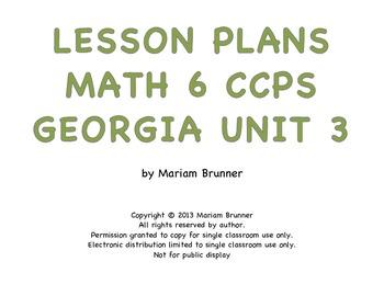 Lesson Plans Georgia Math 6th grade Common Core Expressions