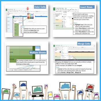Lesson Plans using Google Drive Sheets