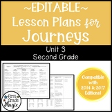 Journeys Lesson Plans Second Grade Unit 3 {EDITABLE!}