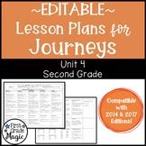 Journeys Lesson Plans Second Grade Unit 4 {EDITABLE!}