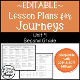 Journeys Lesson Plans Second Grade Unit 4 {EDITABLE!}