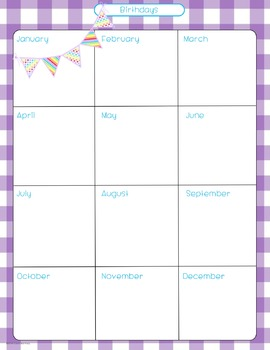 Lesson Plan Templates & More! {Purple Gingham with Pendants}