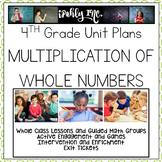Lesson Plans Multiplication of Whole Numbers  4.4B 4.4C 4.4D 4.4G 4.4H 4.5A