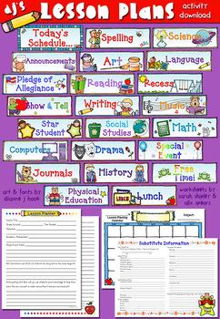 Lesson Plans Printables