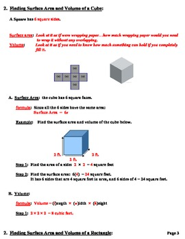 Lesson Plans  Volume and Surface Area for all Three Dimensinal Objects
