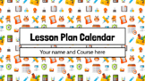 Lesson Plans Weekly Calendar Template