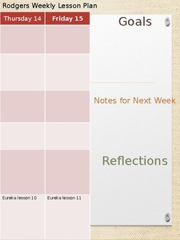 Lesson Plans (Weekly, Whole Group, Small Group) Editable