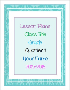Lesson Plans and Assignment List