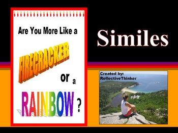 Interactive PowerPoint with Teaching Notes to Teach Simile: Common Core Aligned