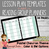 Lesson Plans and Reading Groups Organization Pastel Chevron Theme