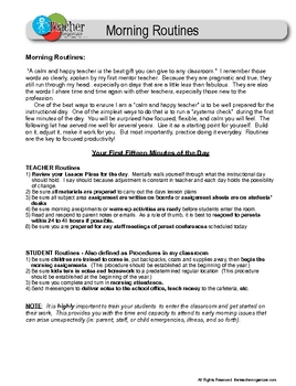 Lesson Plans and Routines from the Essential Teacher Organizer
