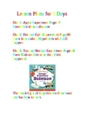 Lesson Plans for 1st grade science