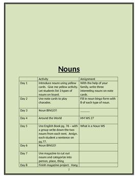 Lesson Plans for Multi-Sensory Grammar