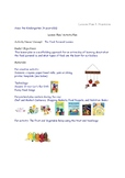 Lesson Plans for Nutrition PreK Preschool  4 year olds Eat