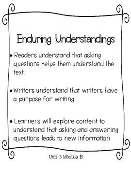 Lesson Plans for ReadyGEN Kindergarten Unit 3 B, Lessons 7-12