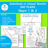 Substitute Teacher Day Plans for Years 1&2 (2 weeks)