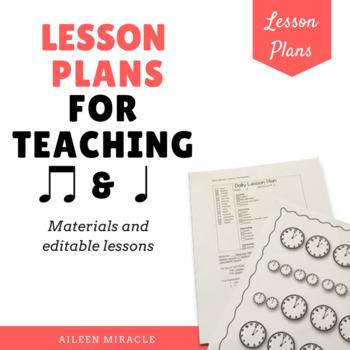 Ta and Ti-Ti Lesson Plans