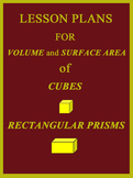Lesson Plans for finding Volume and Surface Area of Rectan