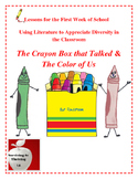 Lesson Plans for the First Week of School: The Crayon Box that Talked
