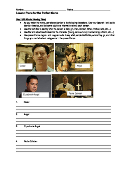 "Lesson Plans for the Movie ""The Perfect Game"""