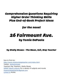 Lesson Plans for the Novel 26 Fairmount Ave.