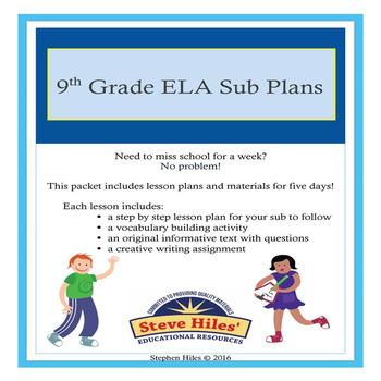 9th Grade Language Arts Substitute Plans