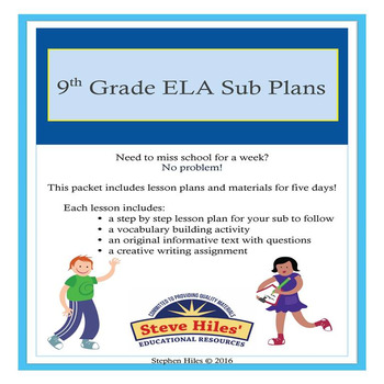 9th Grade Language Arts Substitute Plans