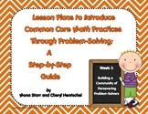 Lesson Plans to Introduce Common Core Math Practices Throu