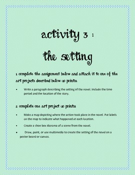 Lesson Plans/Activities to fit ANY NOVEL!