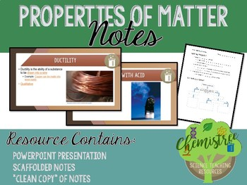 Lesson: Properties of Matter