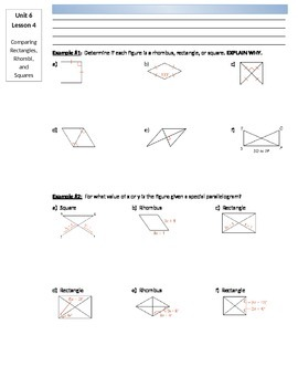 Lesson: Proving Special Parallelograms (Rectangles, Rhombi