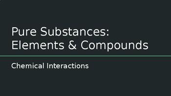 Pure Substances: Elements and Compounds