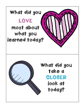 Lesson Reflection Cards