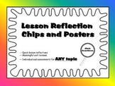 Lesson Reflection Chips and Posters
