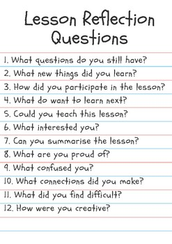 Lesson Reflection Questions