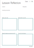 Lesson Reflection Template