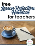 Lesson Reflection for Teachers