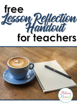 Lesson Reflection for Teachers