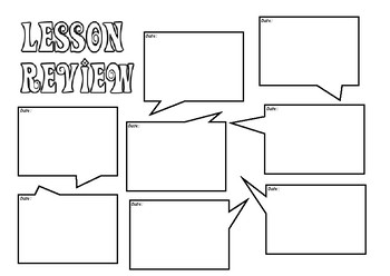 Lesson Review Sheet - Appropriate for all subject areas - lesson conclusion