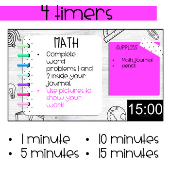 Lesson Slides with Timers