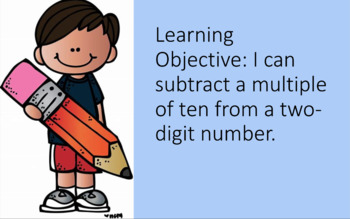 Lesson Subtracting Multiples of Ten from a Two-Digit Number