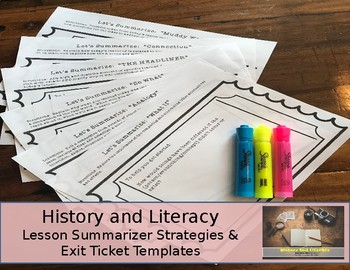 Lesson Summary Strategies - Exit Tickets