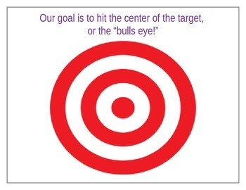 Lesson Target anchor chart