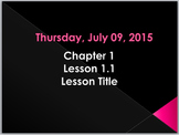 Lesson Template PowerPoint